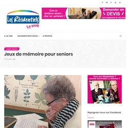 Jeux de mémoire pour seniors - Les Résidentiels