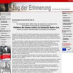 Zug der erinnerung. Association allemande homonyme