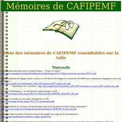 Mémoires de Cafipemf