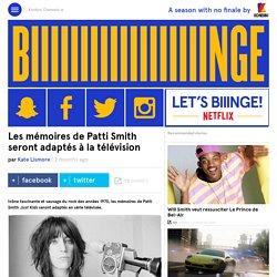 Les mémoires de Patti Smith seront adaptés à la télévision