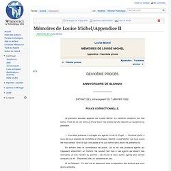 Mémoires de Louise Michel/Appendice II