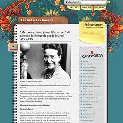 """Biographie de Simone de Beauvoir et présentation des """"Mémoires d'une jeune fille rangée"""""""