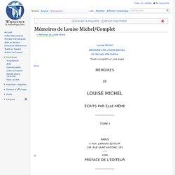 Mémoires de Louise Michel/Complet