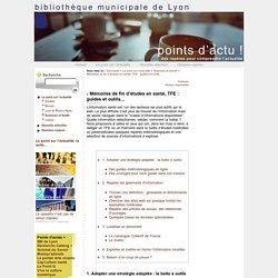 Mémoires de fin d'études en santé, TFE : guides et outils...