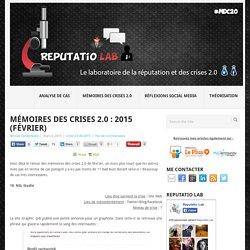 Mémoires des crises 2.0 : 2015 (Février)