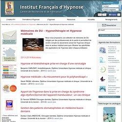 Mémoires de DU - Hypnothérapie et Hypnose médicale