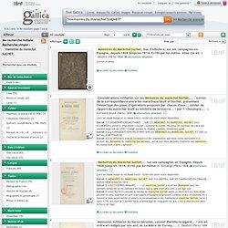"""A proposito de los """"memoires du marechal SUCHET"""" - 80 résultats"""