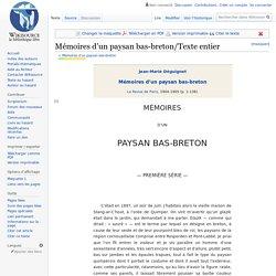 Mémoires d'un paysan bas-breton/Texte entier