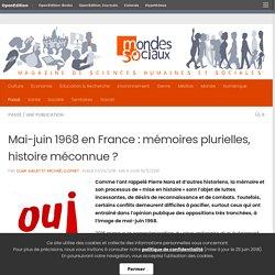 Mai-juin 1968 en France: mémoires plurielles, histoire méconnue?