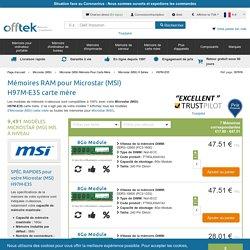 Mémoires RAM Pour Microstar (MSI) H97M-E35 Carte Mère