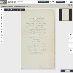Mémoires d'un détenu, pour servir à l'histoire de la tyrannie de Robespierre . Seconde édition, revue et augmentée