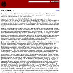 Mémoires de Saint-Simon, tome 13 chapitre 5