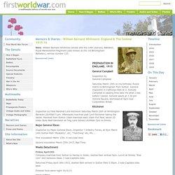Memoirs & Diaries - William Bernard Whitmore: England & The Somme 1915-16