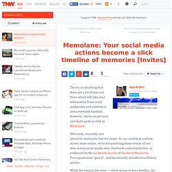 Memolane: Your social media actions become a slick timeline of memories [Invites]