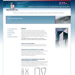 Memometal - Des solutions innovantes pour la chirurgie de la main et du pied