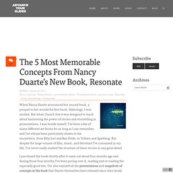 The 5 Most Memorable Concepts From Nancy Duarte's New Book, Resonate