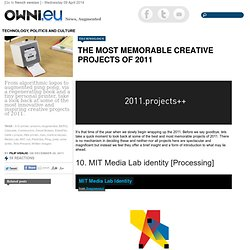 The Most Memorable Creative Projects of 2011