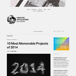 10 Most Memorable Projects of 2014 / selected by @creativeapps
