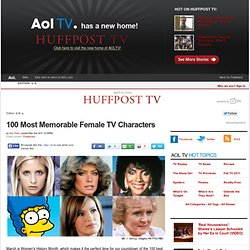 100 Most Memorable Female TV Characters
