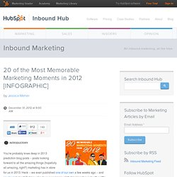 20 of the Most Memorable Marketing Moments in 2012 [INFOGRAPHIC]