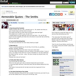 Memorable Quotes - The Smiths list