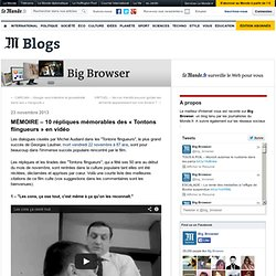 MÉMOIRE – 10 répliques mémorables des «Tontons flingueurs» en vidéo