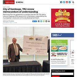 City of Kamloops, TRU renew memorandum of understanding