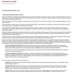 La memoria y el olvido - La Dictadura Militar Chilena 1973 - 1990