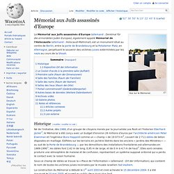 Mémorial aux Juifs assassinés d'Europe — Wikipédia - Waterfox