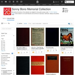 Sonny Bono Memorial Collection : Free Texts : Download & Streaming