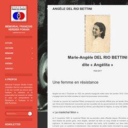 Angèle Del Rio Bettini - Mémorial François Verdier ForainRésistance Toulouse