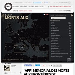 [APP] M?morial des morts aux fronti?res de l?Europe ? Article ? OWNI, Digital Journalism