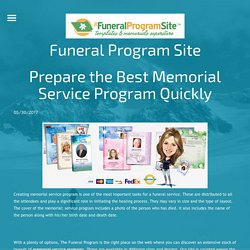 Prepare the Best Memorial Service Program Quickly - funeralprogram