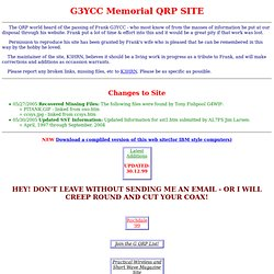 Memorial to G3YCC - QRP SITE