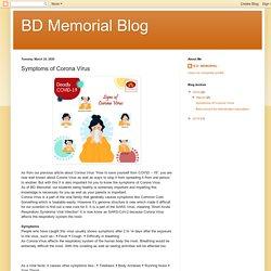 BD Memorial Blog: Symptoms of Corona Virus