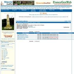 MémorialGenWeb resultcommune.php