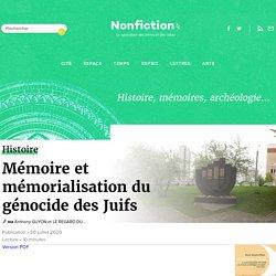 Mémoire et mémorialisation du génocide des Juifs