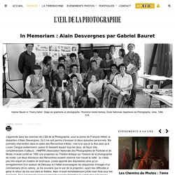 In Memoriam : Alain Desvergnes par Gabriel Bauret