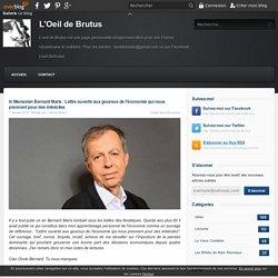In Memorian Bernard Maris : Lettre ouverte aux gourous de l'économie qui nous prennent pour des imbéciles