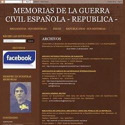 Memorias de la Guerra Civil Española
