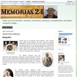 Memorias 24: Gabriel García Márquez