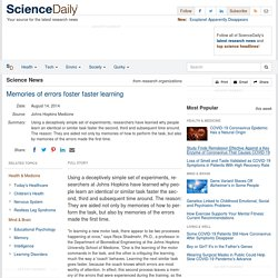 Memories of errors foster faster learning