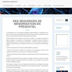 Des séquences de mémorisation en présentiel - sciences cognitives