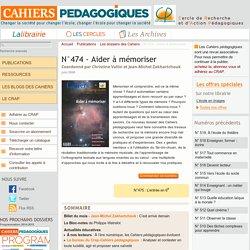 N°474 - Aider à mémoriser