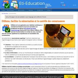 EtiMemo : Mémoriser et contrôler les connaissances en classe