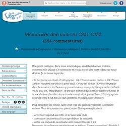 Mémoriser des mots en CM1-CM2
