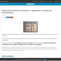 Outils cole pearltrees - Comment apprendre la table de multiplication ...