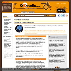 Aprende a memorizar - Técnicas de estudio: Memoriza - Qestudio.com