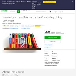 How to Learn and Memorize Vocabulary