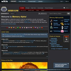 Star Trek Wiki - Memory Alpha